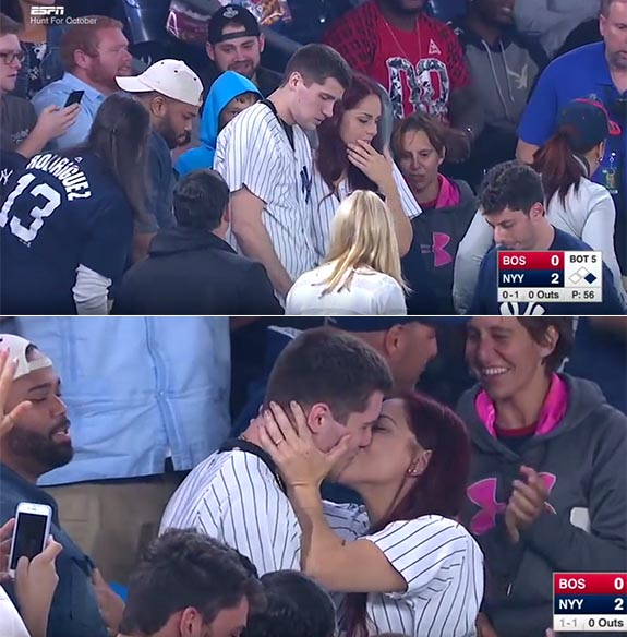 Jumbotron Marriage Proposal at Yankee Stadium Turns Into a Near Disaster When This Happens