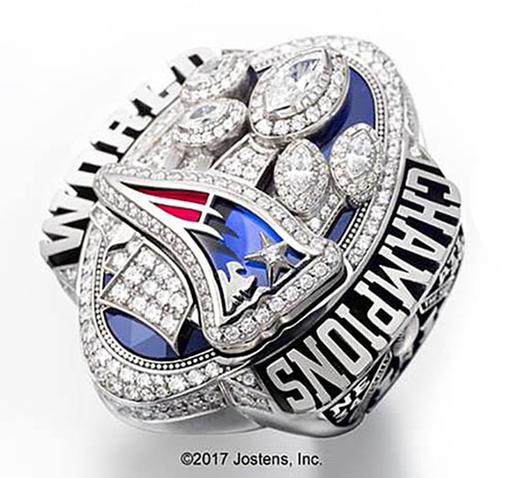 Biggest Super Bowl Rings Ever Made Commemorate Historic Comeback That Led to Patriots' 5th Championship