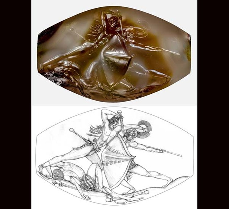 Intricately Carved Agate Detailing a Battle Scene Is Called a Bronze-Age 'Masterpiece'