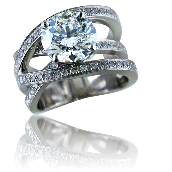 Fancy By-Pass Diamond Ring