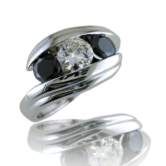 Black & White By-Pass Ring