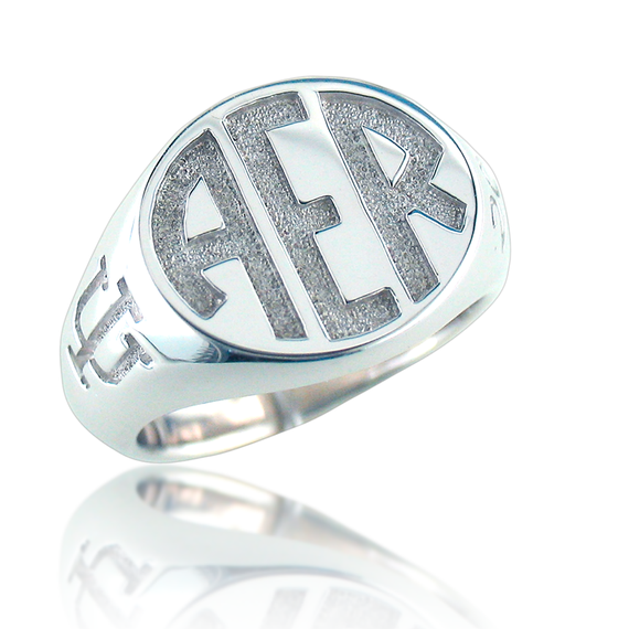 Ladies Monogram Ring