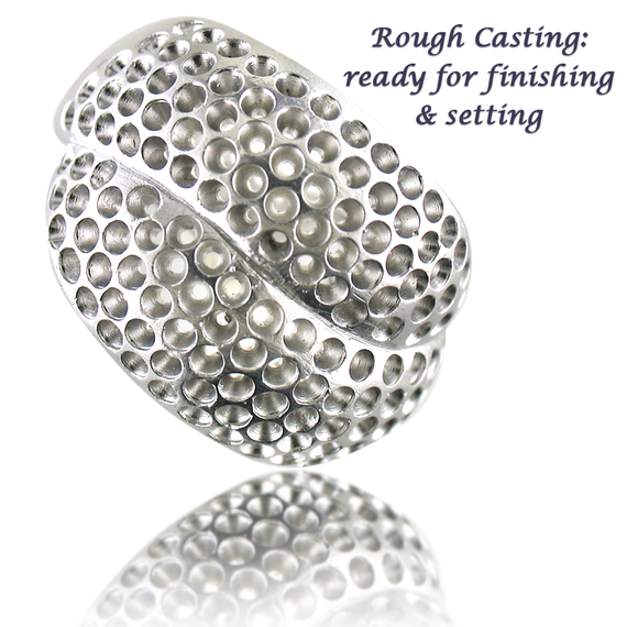 Black & White Pave Ring Casting-1