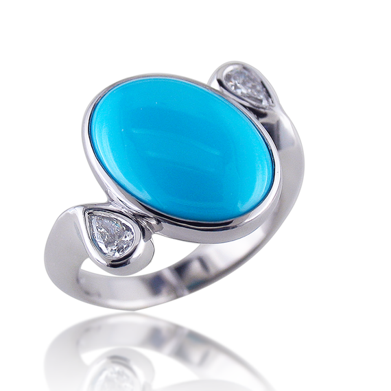 Ladies Turquoise Ring-12