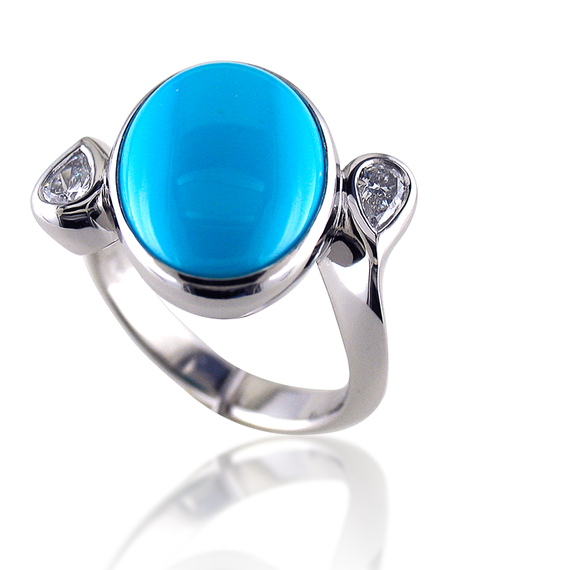 Ladies Turquoise Ring-13